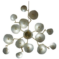 Fifteen-Light Brass Wall Lamp
