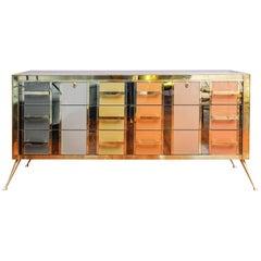 Colored Mirror Cabinet