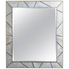 Alabaster Framed Mirror