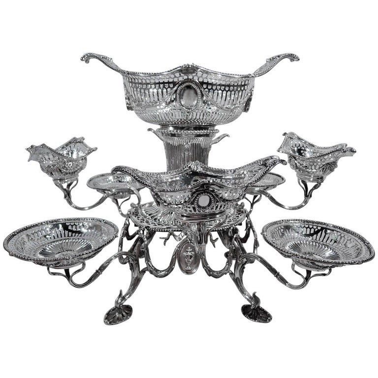 Antique English Neoclassical Revival Sterling Silver Epergne