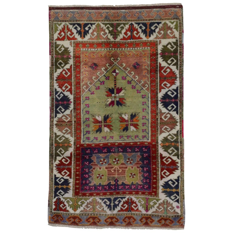 Foyer Rugs Sale : Vintage turkish oushak rug colorful for kitchen bath