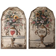 Pair of Continental Painted Panels