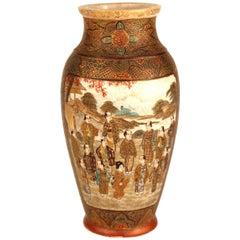 Japanese Porcelain Satsuma Baluster Vase