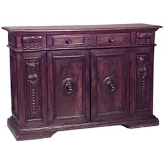 Spanish Renaissance Style '17th Century' Sideboard Cabinet