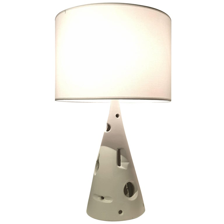 Jacques Lignier Glazed Ceramic Table Lamp