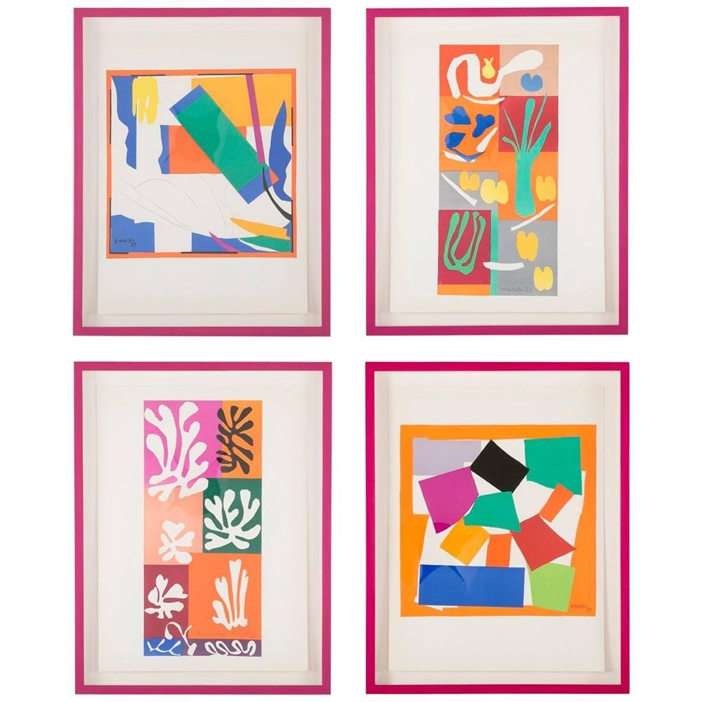 Group of Four Vintage Lithographs after Henri Matisse.