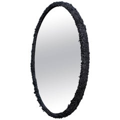 Excavated Mirror 'EM-1' in Blackened Cast Pewter Unique Edition of 1