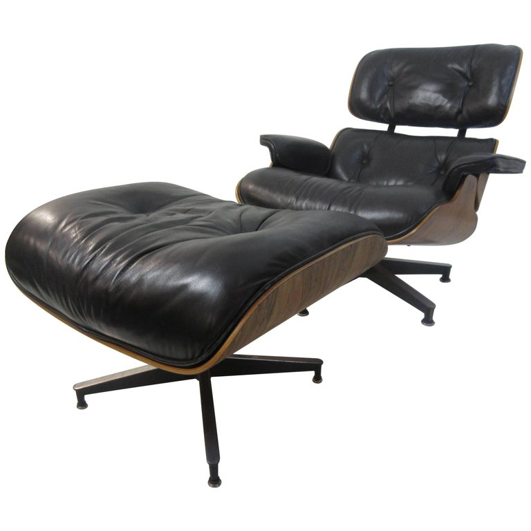 Charles Eames Rosewood 670/71 Chair and Ottoman for Herman Miller