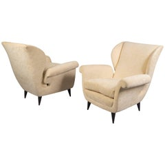 Pair of Armchairs, Italy, 1940s