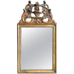 Louis XVI Period Giltwood Mirror, 18th Century