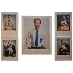 Set of Five Portraits of Funny People by Matt Hoyle