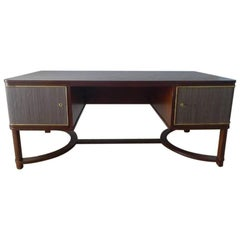 Expansive French Modern Art Deco Executive Desk