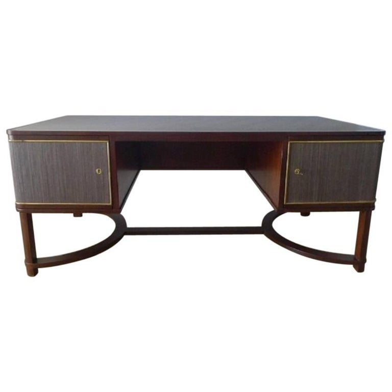 Expansive French Modern Art Deco Executive Desk For Sale