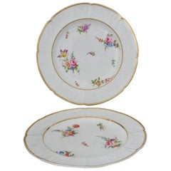 Pair of Plates, Roses and Tulips, Nantgarw, circa 1815