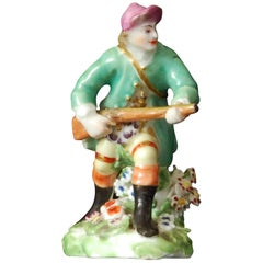 Miniature Figure, Huntsman, Derby Porcelain Works, circa 1770