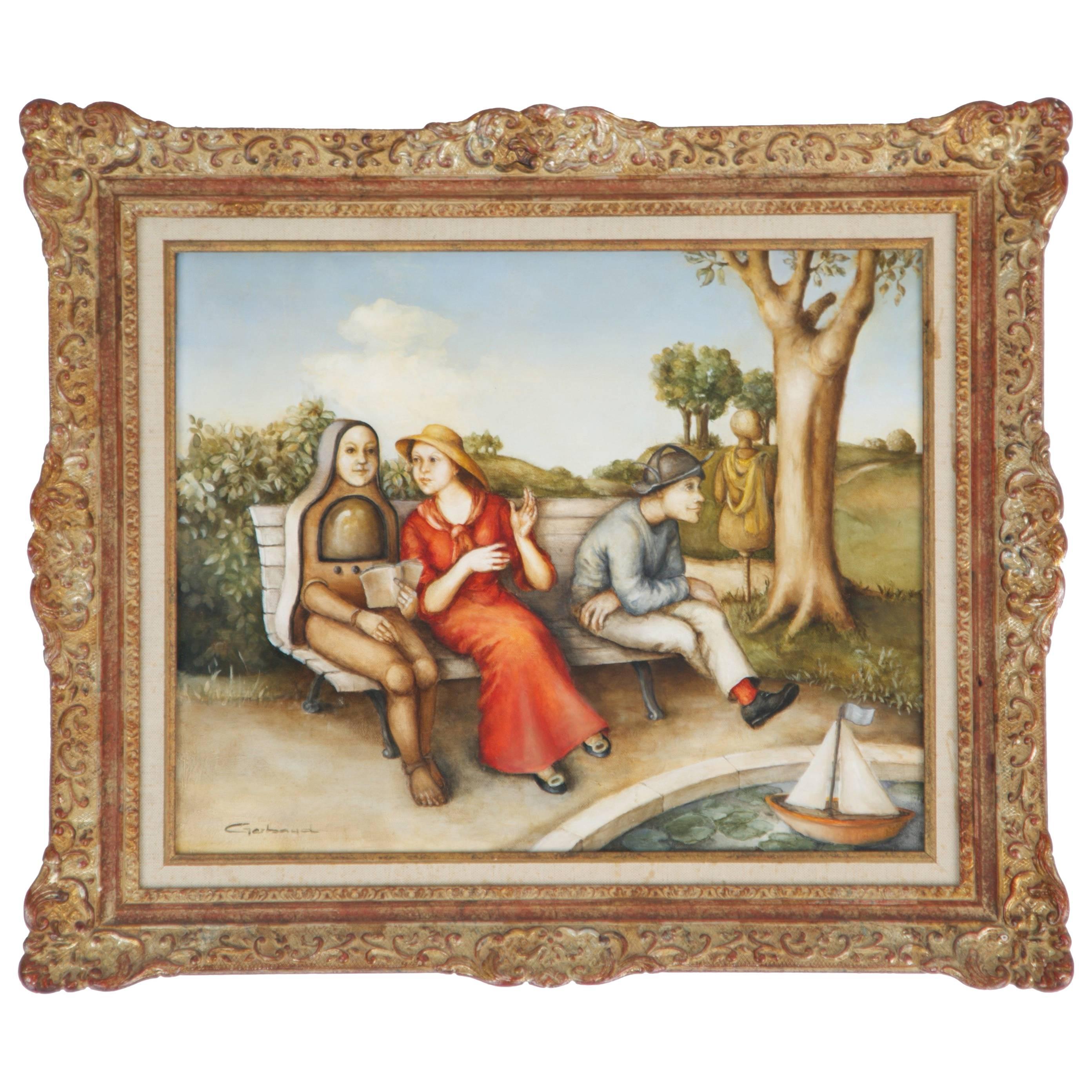 Gerbaud Continental School Original Painting, Oil on Canvas