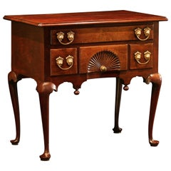 18th Century Queen Anne Cuban Mahogany Lowboy, New England