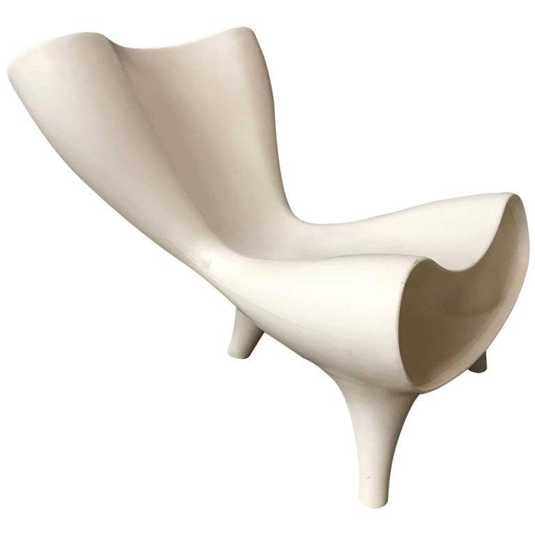 1983, Marc Newson, Orgone Chair in White
