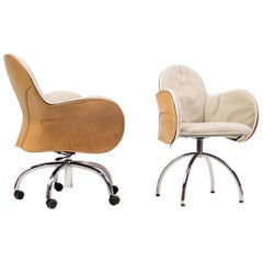 De Padova Incisa Chair and Serbelloni Desk Chair in Saddle Leather