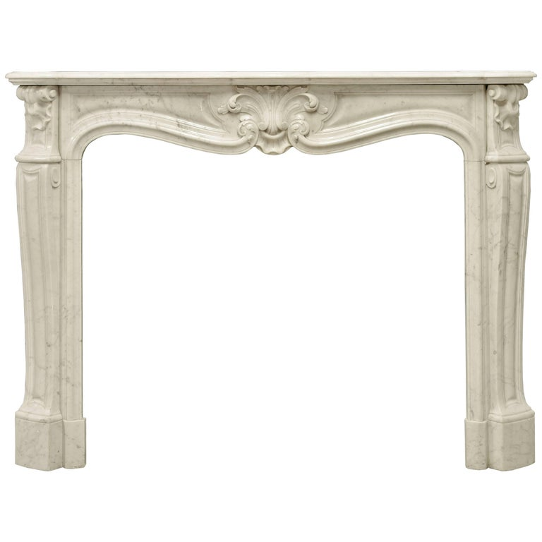Antique Louis XV Style Fireplace Mantel, 19th Century