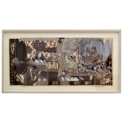 Abstract Collage Art in Tones of Black and White by Bill Allan, UK, 1993