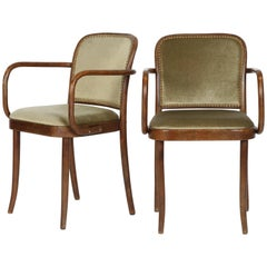 Josef Hoffmann Chairs Model 811 Thonet, 1960s