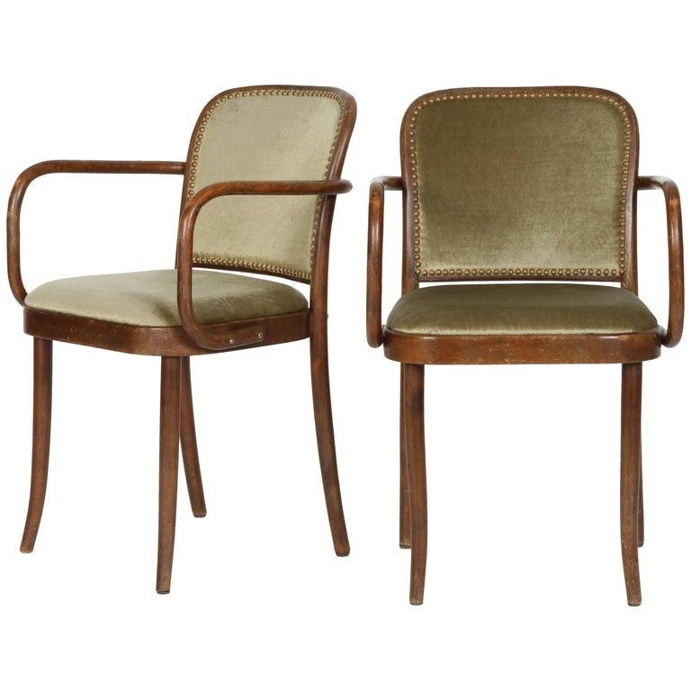 Josef Hoffmann Chairs Model 811 Thonet, 1960s
