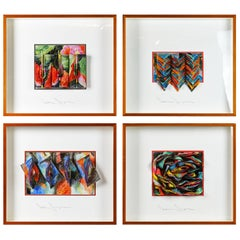Suite of Four Wall Sculptures by Akiko Sugiyama, Noted Japanese/American Artist