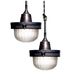 Industrial Fluted Dome Pendants