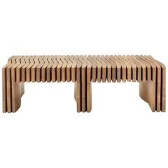 Synthesis Bench, Custom, Handmade from Locally-Harvested Wood in the USA