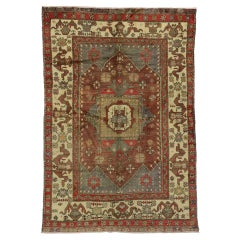 Vintage Turkish Oushak Area Rug with Rustic Warm Colors, Anatolian Yuntdag Rug