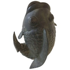 Chinese Bronze Fish Form Vase