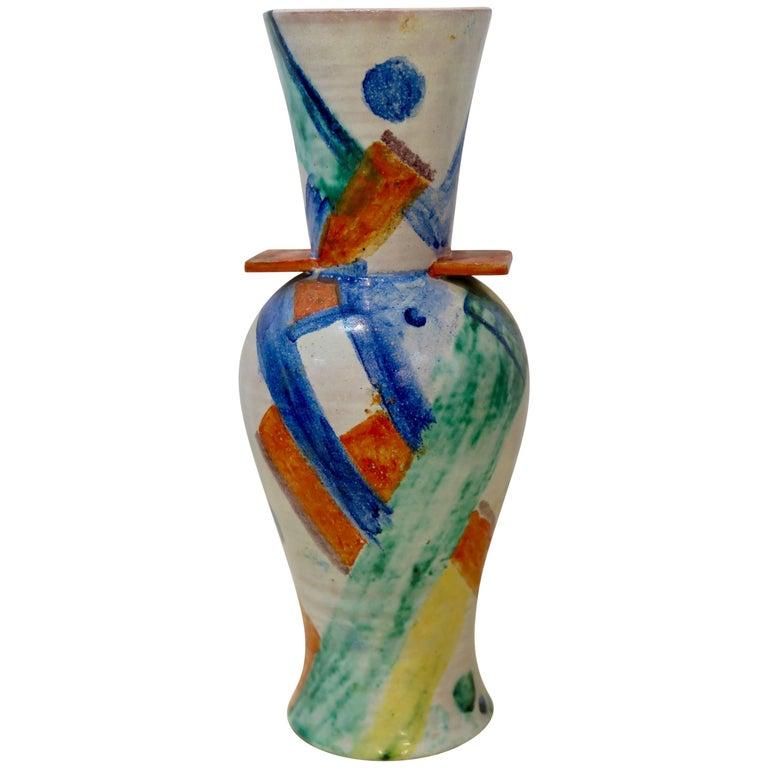 Wiener Werkstätte Ceramic Vase by Gudrun Baudisch For Sale