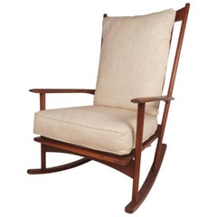 Danish Modern Walnut Rocking Chair by Selig
