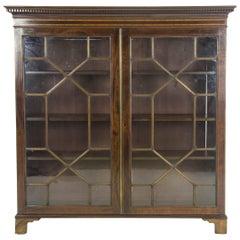 Antique Bookcase, Mahogany, Display Cabinet, Astragal Doors, Scotland 1910, B962