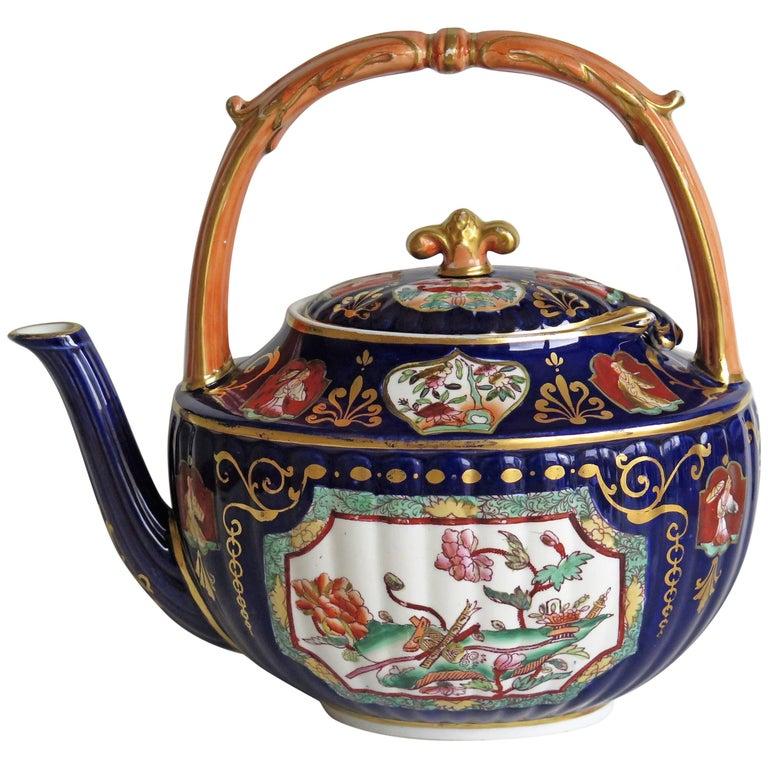 Fine 19th Century Mason's Ashworth's Ironstone Tea Pot Rare Shape, circa 1870