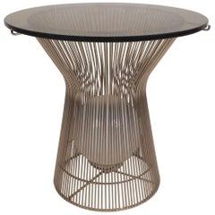 Unusual Warren Platner Style Side Table with a Light Inside