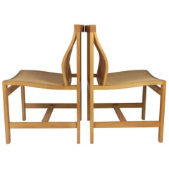 1980s Rud Thygesen and Johnny Sorensen Set of Two King Series Birch Chairs