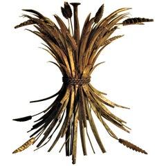 Gilt Metal Sheaf of Wheat Table