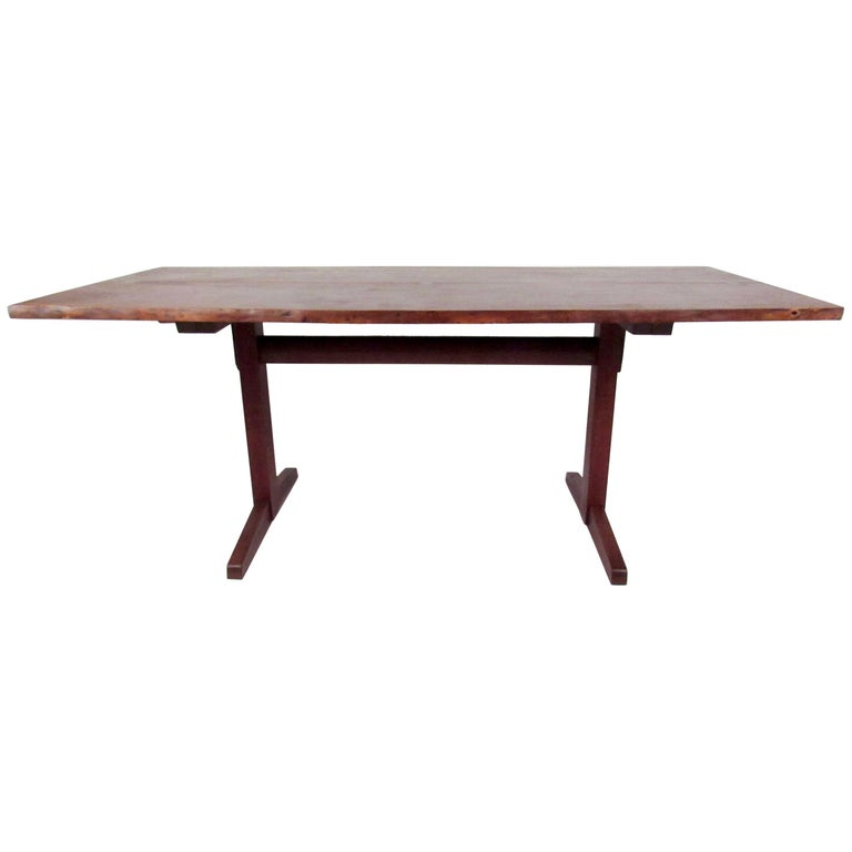 George Nakashima Dining Table with Trestle Base