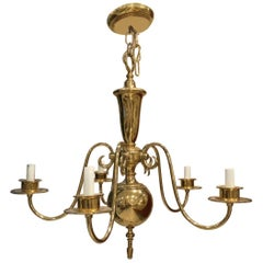 Georgian Style Chandelier with Five-Arm Lights