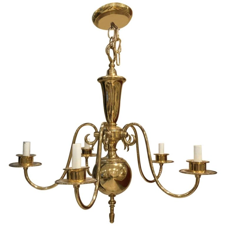 Georgian Style Chandelier with Five-Arm Lights For Sale