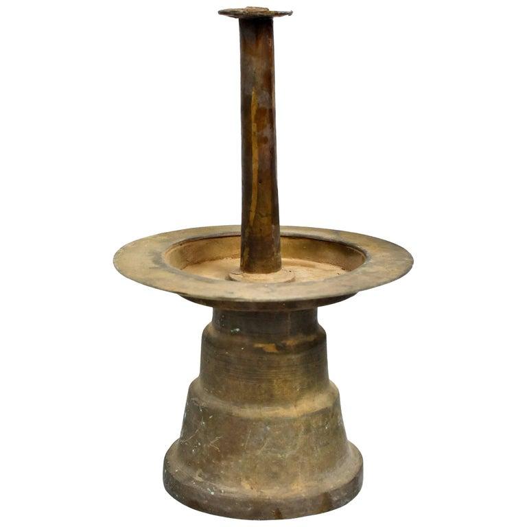 Antique Tibetan Bronze Oil Lamp For Sale