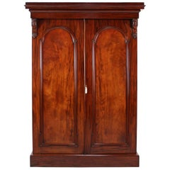 William IV Mahogany Fitted Two-Door Wardrobe