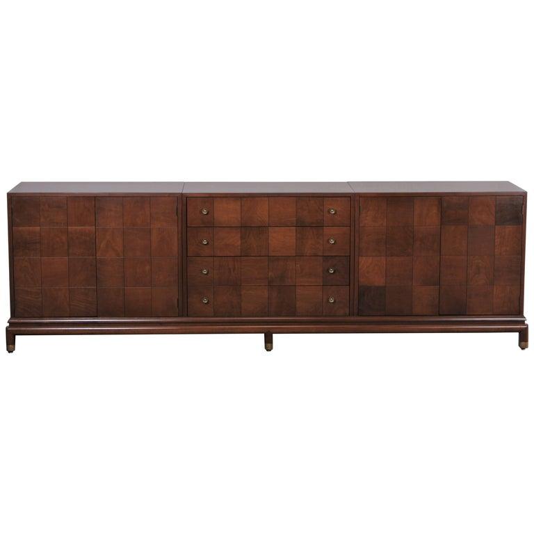 Renzo Rutili Walnut Credenza for Johnson Furniture Co., 1960s