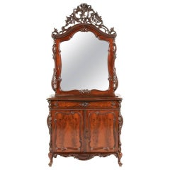 Highly Carved Mahogany Cabinet