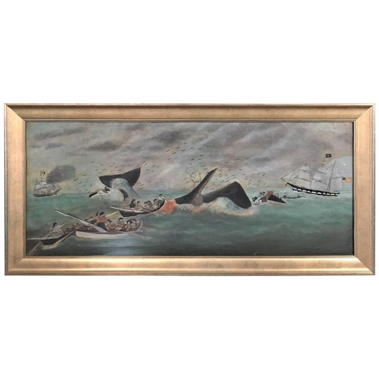 19th Century Whaling Panorama, circa 1890 For Sale