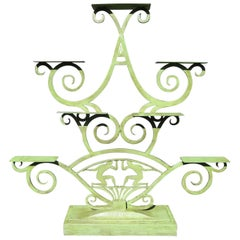 Art Deco Painted Iron Display Unit