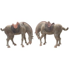 Pair of Tang Dynasty Horses