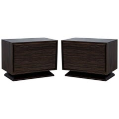 Pair of Carrocel Custom Macassar Nightstands